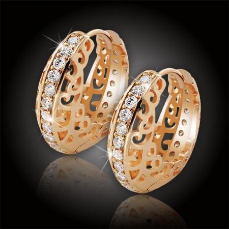 Náušnice La Diamantina Carmen Gold