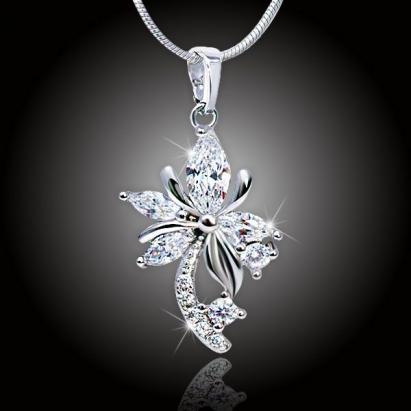 Velká květina s krystaly