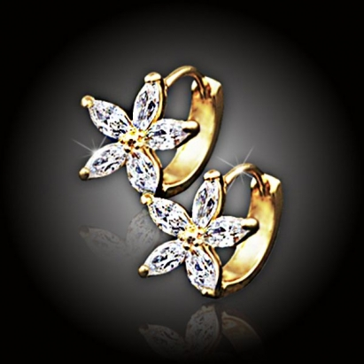 Náušnice La Diamantina Golden Jasmine