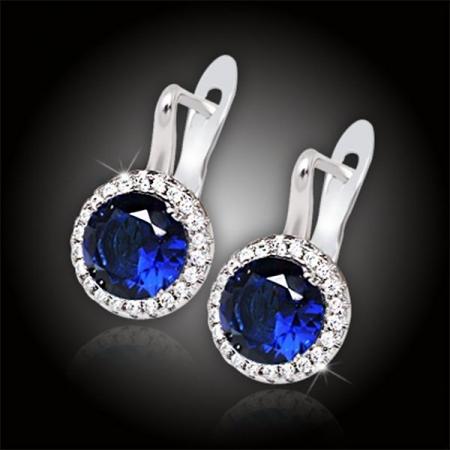 Náušnice Brillance Isabella Royal Blue