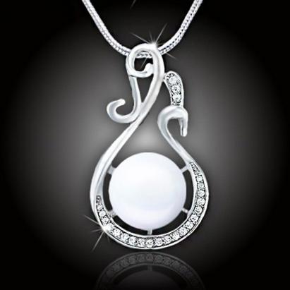 Náhrdelník Lastura s perlou – White Pearl