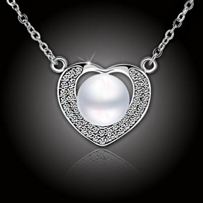 Perlový náhrdelník Pearl Heart - White Pearl