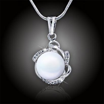 Perlový náhrdelník Destiny White Pearl