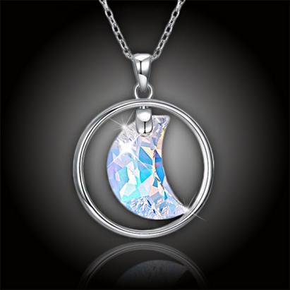 Stříbrný náhrdelník Moonlight Swarovski AB