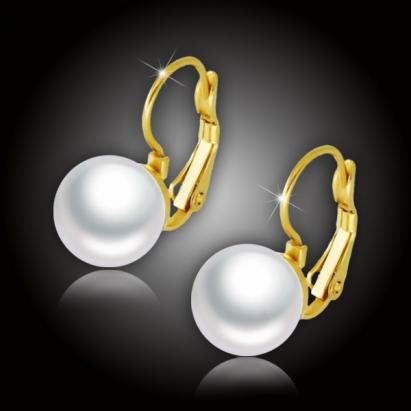 Náušnice Merea Gold White Pearl