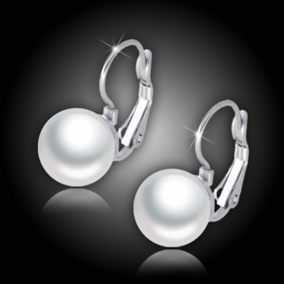 Náušnice Merea White Pearl