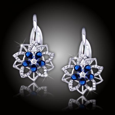 Náušnice Brillance Florencia Royal Blue