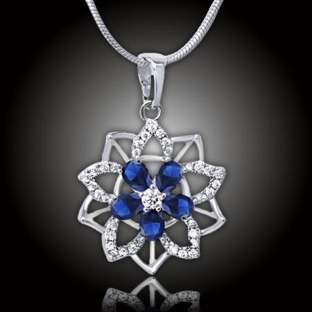 Romantický náhrdelník Florencia Royal Blue