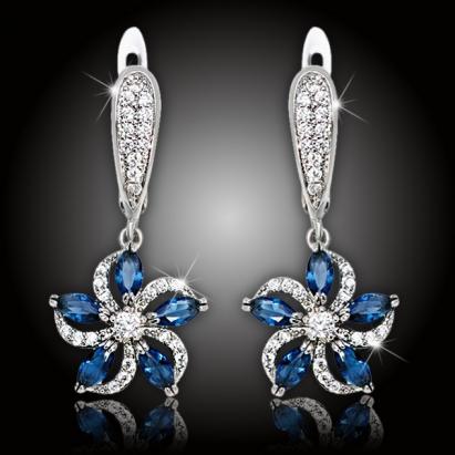 Náušnice Brillance Ornella Royal Blue
