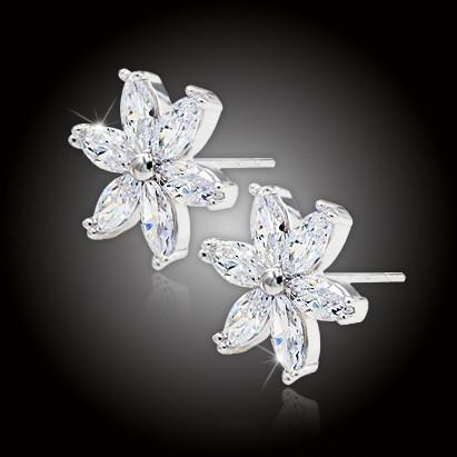Earrings with Cubic Zirconia -  Priscilla