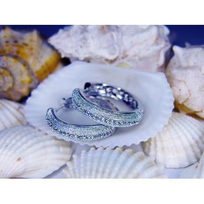 """Krystal """"Square Ring"""" Bermuda Blue Swarovski Elements + stříbrný řetízek"""