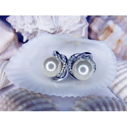 Perlové náušnice Annabelle White Cream Pearl
