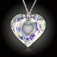 Duhové srdce Swarovski AB + stříbrný řetízek